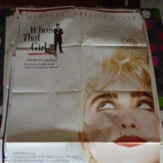 Cine: WHO'S THAT GIRL. CARTEL DE CINE- MOVIE POSTER. 100X70 CM APRO. Lote 109370755