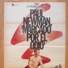 Cine: CARTEL CINE, MARCADO POR EL ODIO, PAUL NEWMAN, PIER ANGELI, 1981, C1292. Lote 109370939