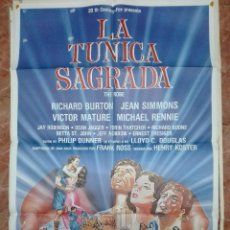 Cine: CARTELERA ORIGINAL 70 X 100. LA TÚNICA SAGRADA CON RICHARD BURTON. Lote 109375535