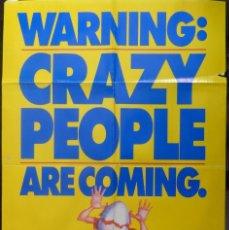 Cine: CRAZY PEOPLE MOVIE POSTER,1990,ORIGINAL,PARAMOUNT PICTURES.. Lote 109398279