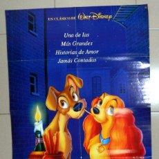 Cine: POSTER CARTEL DE CINE - REVISTA TOP DISNEY - LA DAMA Y EL VAGABUNDO - BLUR - MUSICA POP. Lote 109398379