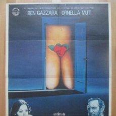 Cine: CARTEL CINE, ORDINARIA LOCURA, BEN GAZZARA, ORNELLA MUTI, 1982, C1315. Lote 109429623