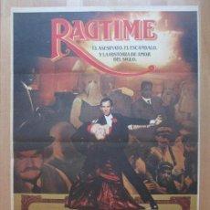 Cine: CARTEL CINE, RAGTIME, JAMES CAGNEY, BRAD DOURIF, C1318. Lote 109429975