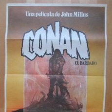 Cine: CARTEL CINE, CONAN EL BARBARO, ARNOLD SCHWARZENEGER, JAMES EARL JONES, 1982, C1349. Lote 109457023