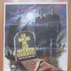 Cine: CARTEL CINE, LA NOCHE DE LOS MUERTOS VIVIENTES, JOHN A. RUSSO, GEORGE A. ROMERO, MAC, 1981, C1350. Lote 109457159