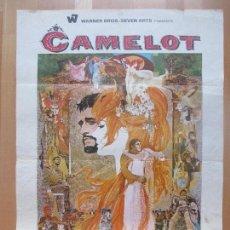 Cine: CARTEL CINE, CAMELOT, RICHARD HARRIS, VANESSA REDGRAVE, 1965, C1352. Lote 109457347