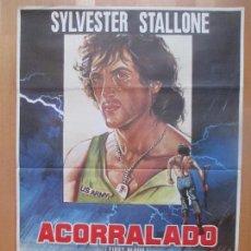 Cine: CARTEL CINE, ACORRALADO, SYLVESTER STALLONE, 1982, C1353. Lote 109457523