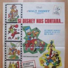 Cine: CARTEL CINE, SI DISNEY NOS CONTARA..., WALT DISNEY WORLD, 1973, C1355. Lote 109458299