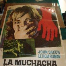 Cine: LA MUCHACHA QUE SABIA DEMASIADO CARTEL ORIGINAL 100 X 70 CMS MARIO BAVA 1962. Lote 109460227