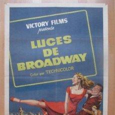 Cine: CARTEL CINE, LUCES DE BROADWAY, TONY MARTIN, JANET LEIGH, C1358. Lote 109460279