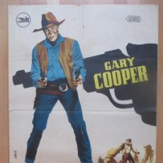 Cine: CARTEL CINE, HOMBRE DEL OESTE, GARY COOPER, VBHER, 1960, C1360. Lote 109461219