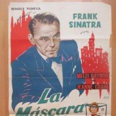 Cine: CARTEL CINE, LA MASCARA DEL DOLOR, FRANK SINATRA, MITZI GAYNOR, 1962, C1361. Lote 109461395
