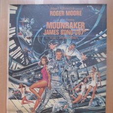 Cine: CARTEL CINE, MOONRAKER, JAMES BOND 007, ROGER MOORE, 1979, C1367. Lote 109462675