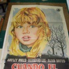 Cine: CUANDO EL VIENTO SILBA CARTEL ORIGINAL 100 X 70 CMS 1962. Lote 109464283
