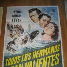 Cine: TODOS LOS HERMANOS ERAN VALIENTES, ROBERT TAYLOR, STEWART GRANGER, ANN BLYTH, RICHARD THORPE. Lote 109558627