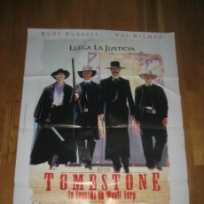 Cine: TOMBSTONE, LA LEYENDA DE WYATT EARP, KURT RUSSELL, VAL KILMER, GEORGE P.COSMATOS. Lote 109563027