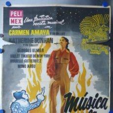 Cine: MUSICA EN LA NOCHE - CARMEN AMAYA, KATHERINE Y SU BALLET, GEORGES ULMER - AÑOS 1950. Lote 109577219