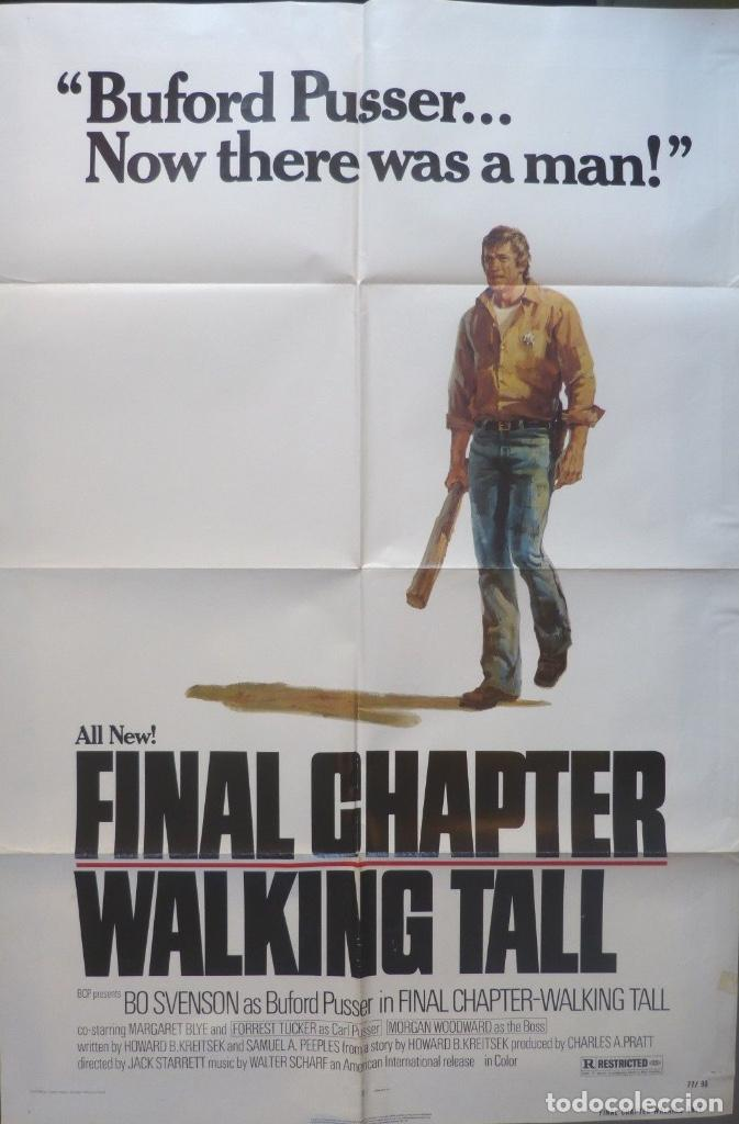 FINAL CHAPTER-WALKING TALL MOVIE POSTER,1977,CHARLES A.PRATT (Cine - Posters y Carteles - Acción)