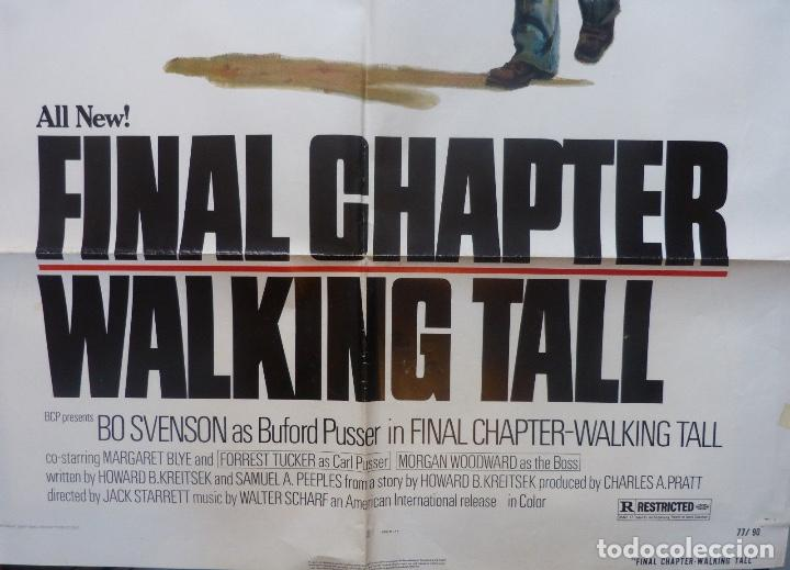 Cine: Final chapter-Walking tall movie poster,1977,Charles A.Pratt - Foto 6 - 109620391