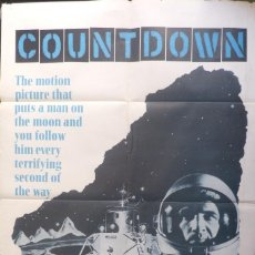 Cine: COUNTDOWN MOVIE POSTER,1968,WARNER BROS. 27 X 41 INCHES. Lote 109623187