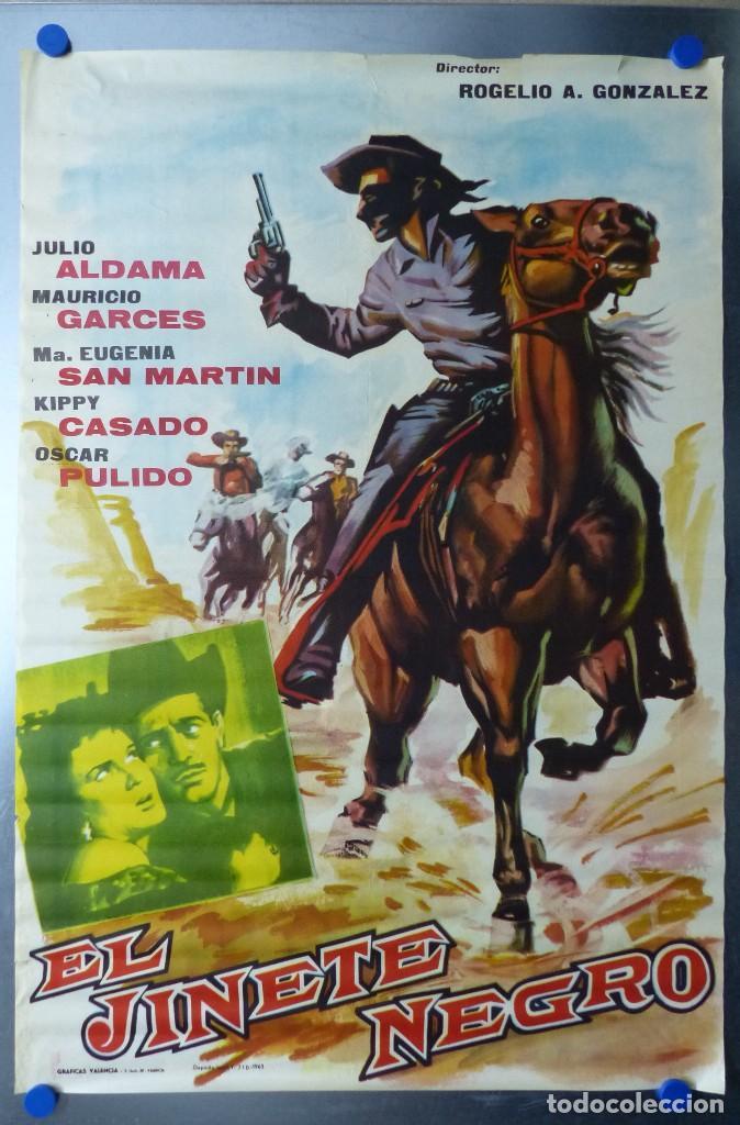 EL JINETE NEGRO - JULIO ALDAMA, MAURICIO GARCES - AÑO 1963 (Cine - Posters y Carteles - Westerns)
