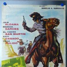 Cine: EL JINETE NEGRO - JULIO ALDAMA, MAURICIO GARCES - AÑO 1963. Lote 109711559