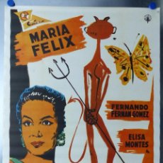 Cine: FAUSTINA - MARIA FELIX, FERNANDO FERNAN GOMEZ - CARTEL MEXICANO. Lote 115781288