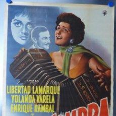 Cine: AMOR EN LA SOMBRA - LIBERTAD LAMARQUE, YOLANDA VARELA, ENRIQUE RAMBAL, AÑO 1959 - CARTEL MEXICANO. Lote 109715279