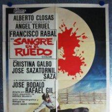 Cine: SANGRE EN EL RUEDO RAFAEL GIL ANGEL TERUEL TOROS ALBERTO CLOSAS FRANCISCO RABAL - AÑO 1969. Lote 109839591