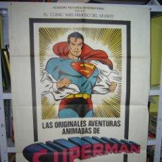Cine: LAS ORIGINALES AVENTURAS ANIMADAS DE SUPERMAN POSTER ORIGINAL 70X100 Q. Lote 109902211