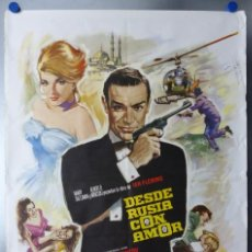 Cine: DESDE RUSIA CON AMOR, SEAN CONNERY - JAMES BOND 007 - CARTEL DEL AÑO 1974. Lote 110161255