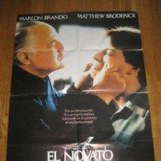 Cine: EL NOVATO, ANDREW BERGMAN, MARLON BRANDO, MATTHEW BRODERICK, BRUNO KIRBY. Lote 110188583