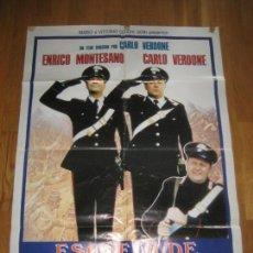 Cine: ESCUELA DE CARABINEROS, MASSIMO BOLDI, ENRICO MONTESANO, CARLO VERDONE. Lote 110189635