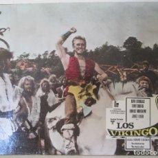 Cine: KIRK DOUGLAS, TONY CURTIS, ERNEST BORGNINE, JANET LEIGH, CARTELERA, LOS VIKINGOS. Lote 110196759