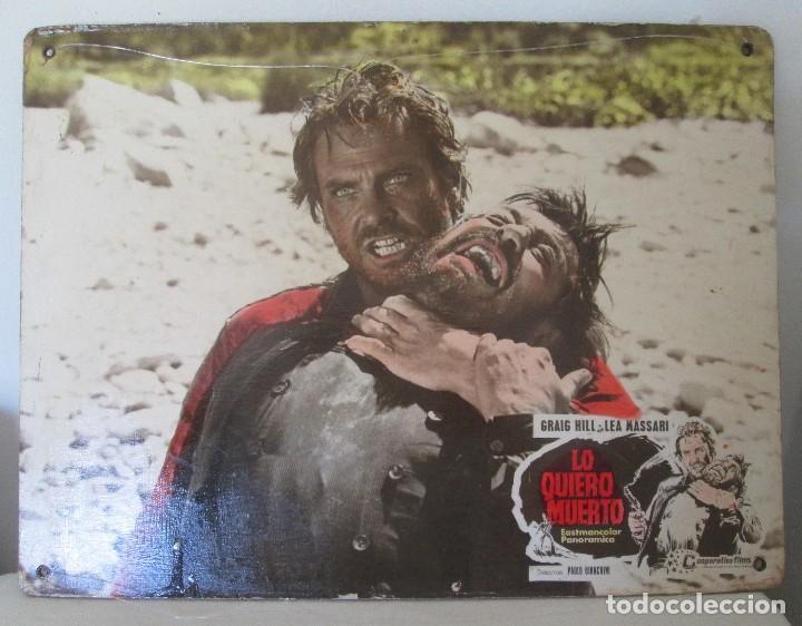 GRAIG HILL Y LEA MASSARI, CARTELERA, LO QUIERO MUERTO (Cine - Posters y Carteles - Westerns)