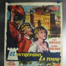 Cine: EL INTREPIDO LA TOUR. JEAN MARAIS, ELEONORA ROSSI DRAGO - AÑO 1960. Lote 110213267