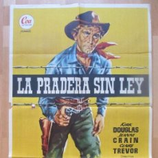 Cine: CARTEL CINE, LA PRADERA SIN LEY, KIRK DOUGLAS, JEANNE CRAIN, 1955, JANO, C1369. Lote 110233479