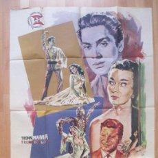 Cine: CARTEL CINE, LUNA DE MIEL, ANTONIO, ANTHONY STEEL, LUDMILLA TCHERINA, JANO 1958, 2 PARTES, C1371. Lote 110249551
