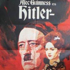 Cine: CARTEL ORIGINAL DE LA PELICULA HITLER CON ALEC GUINNESS 70 X 100 CM. Lote 110292267
