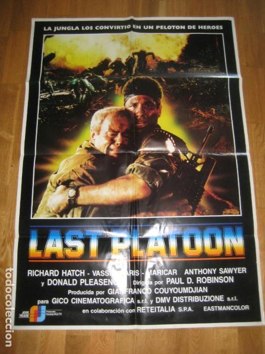 LAST PLATOON, PAUL D. ROBINSON, RICHARD HATCH, VASSILI KARIS, ANTHONY SAWYER, DONALD PLEASENCE (Cine - Posters y Carteles - Bélicas)