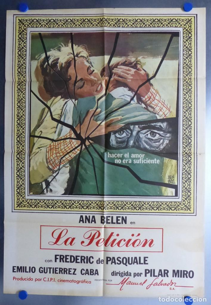 LA PETICION - ANA BELEN, EMILIO GUTIERREZ CABA - AÑO 1976 (Cine - Posters y Carteles - Clasico Español)