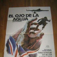 Cine: EL OJO DE LA AGUJA, EYE OF THE NEEDLE, RICHARD MARQUAND, IAN BENNEN, CHRISTOPHER CAZENOVE,KEN FOLLET. Lote 110355915
