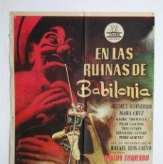 Cine: CARTEL / PÓSTER PELÍCULA - EN LAS RUINAS DE BABILONIA - HELMUT SCHNEIDER / MARA CRUZ - CIFESA, 1959. Lote 110357299
