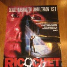 Cine: RICOCHET, RUSSELL MULCAHY, DENZEL WASHINGTON, JOHN LITHGOW, KEVIN POLLAK. Lote 110390991