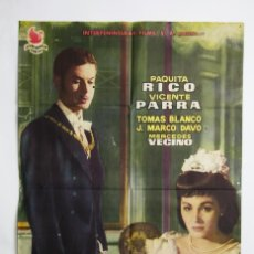 Cine: CARTEL / PÓSTER PELÍCULA - ¿DÓNDE VAS ALFONSO XII? - PAQUITA RICO / VICENTE PARRA - AÑO 1958. Lote 110428611