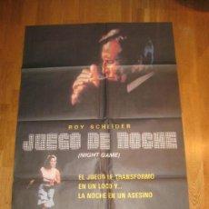 Cine: JUEGO DE NOCHE, NIGHT GAME, ROY SCHEIDER, PETER MASTERSON, KAREN YOUNG. Lote 110542023