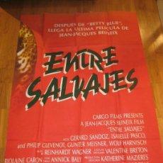 Cine: ENTRE SALVAJES, ROSELYNE ET LES LIONS, JEAN-JACQUES BEINEIX, GERARD SANDOZ, ISABELLE PASCO. Lote 110580887
