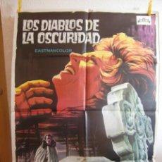 Cine: CARTEL CINE ORIG LOS DIABLOS DE LA OSCURIDAD (1965) 70X100 / LANCE COMFORT SOLIGÓ. Lote 110664923