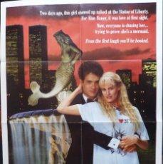 Cine: SPLASH MOVIE POSTER, 1984, BUENA VISTA.. Lote 110680671