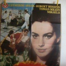 Cine: CARTEL CINE ORIG MADEMOISELLE DE MAUPIN (1966) 70X100 / CATHERINE SPAAK. Lote 110695375